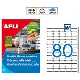 Etiquetas Apli 10199 Removibles 35,6 x 16,9 mm