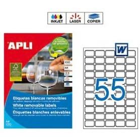 Etiquetas Apli 3051 Removibles 36,8 x 23,8 mm
