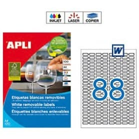 Etiquetas Apli 10314 Removibles 45 x 8 mm