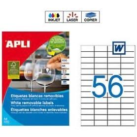 Etiquetas Apli 3055 Removibles 52,5 x 21,2 mm