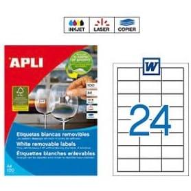 Etiquetas Apli 30251 Removibles 64,6 x 33,8 mm
