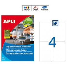 Etiquetas Apli 3058 Removibles 105 x 148 mm