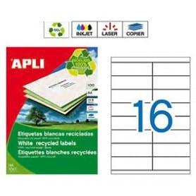 Etiquetas Apli 12064 Recicladas 105 x 35 mm