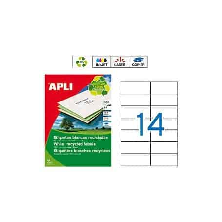 Etiquetas Apli 12066 Recicladas 105 x 42,4 mm