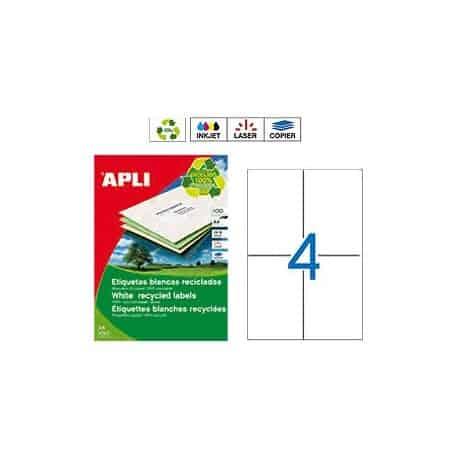 Etiquetas Apli 12068 Recicladas 105 x 148 mm
