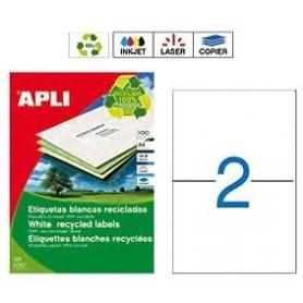 Etiquetas Apli 12069 Recicladas 210 x 148 mm