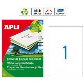 Etiquetas Apli 12070 Recicladas 210 x 297 mm