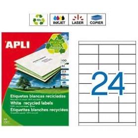 Etiquetas Apli 12060 Recicladas 70 x 35 mm