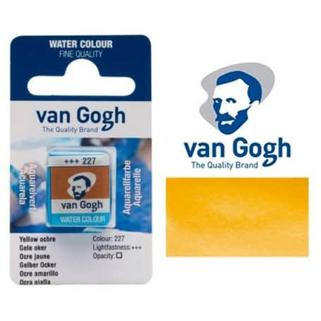 Ocre Amarillo 227 Pastilla Acuarela Van Gogh