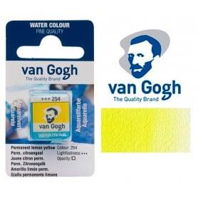Amarillo Limón Permanente 254 Pastilla Acuarela Van Gogh