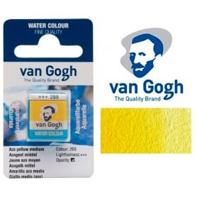 Amarillo Azo Medio 269 Pastilla Acuarela Van Gogh