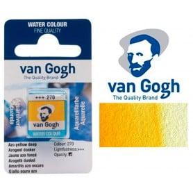 Amarillo Azo Oscuro 270 Pastilla Acuarela Van Gogh