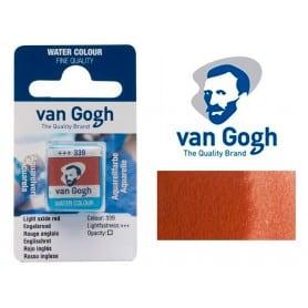 Rojo Inglés 339 Pastilla Acuarela Van Gogh