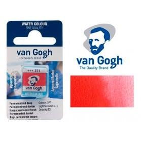 Rojo Permanente Oscuro 371 Pastilla Acuarela Van Gogh
