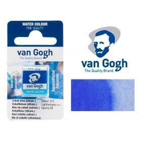 Azul Cobalto Ultramar 512 Pastilla Acuarela Van Gogh