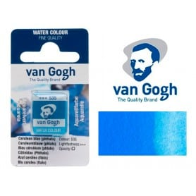 Azul Cerúleo Ftalo 535 Pastilla Acuarela Van Gogh