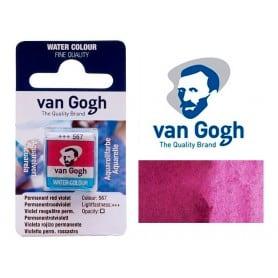 Violeta Rojo Permanente 567 Pastilla Acuarela Van Gogh
