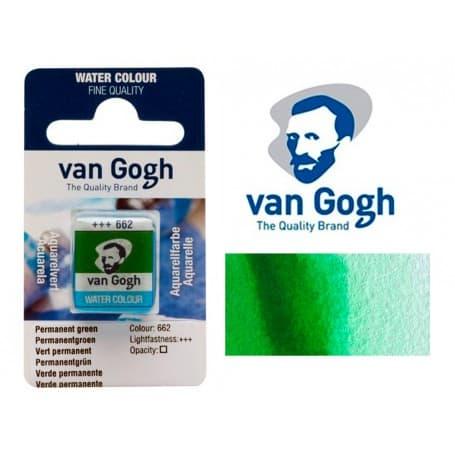 Verde Permanente 662 Pastilla Acuarela Van Gogh
