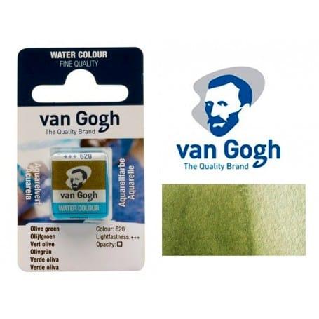 Verde Oliva 620 Pastilla Acuarela Van Gogh
