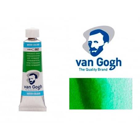 Verde Permanente 662 Acuarela Van Gogh 10 ml