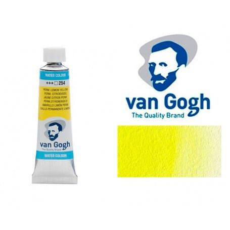 Amarillo Limón Permanente 254 Acuarela Van Gogh 10 ml