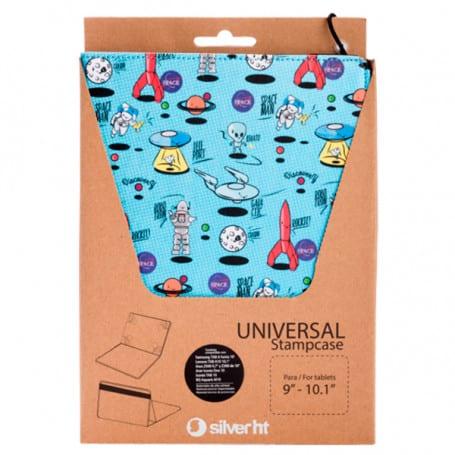 Funda Tablet Universal Space Azul Metalizado, SilverHT