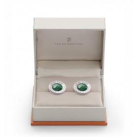 Gemelos redondos Graf Von Faber-Castell Bañados platino con jade