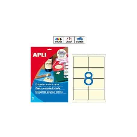 Etiquetas Apli 11801 Crema 97 x 67,7 mm
