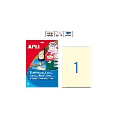 Etiquetas Apli 11802 Crema 210 x 297 mm