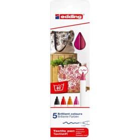 Pack 5 rotuladores textiles tonos Cálidos