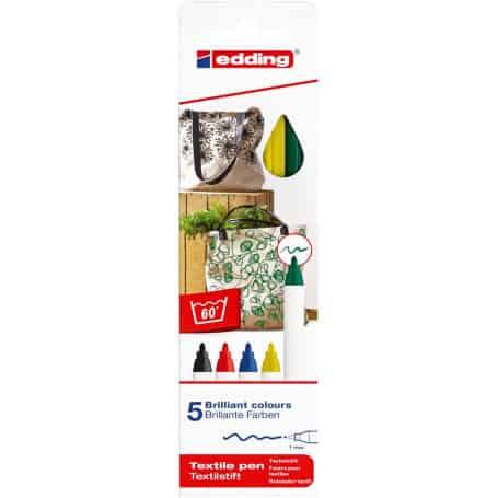 pack-5-rotuladores-textiles-edding-4600-tonos-básicos-goya
