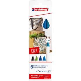 pack-5-rotuladores-textiles-edding-4600-tonos-fríos-goya