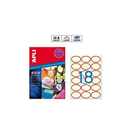 Etiquetas Apli 11986 Crema 63,5 x 42,3 mm