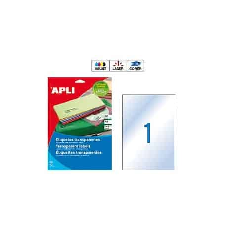 Etiquetas Apli 10053 Transparentes 210 x 297 mm