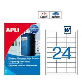 Etiquetas Apli 1226 Larga Duración 64,6 x 33,8 mm