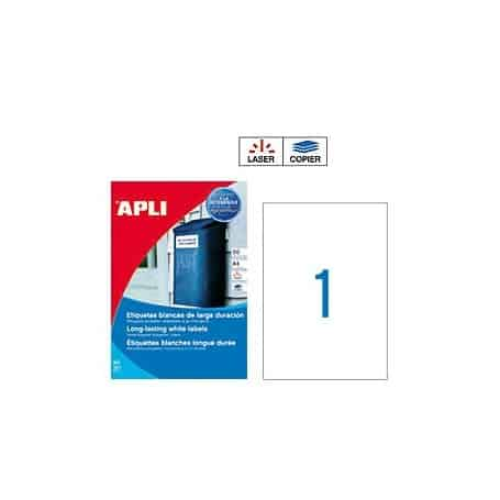 Etiquetas Apli 12121 Larga Duración 210 x 297 mm