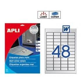 Etiquetas Apli 10066 Poliéster Plata 45,7 x 21,2 mm