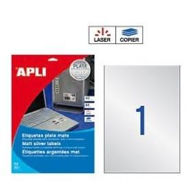 Etiquetas Apli 10071 Metalizada 210 x 297 mm