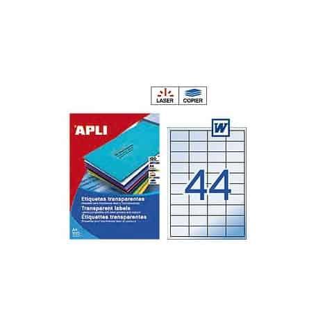 Etiquetas Apli 1223 Translúcidas 48,5 x 25,4 mm