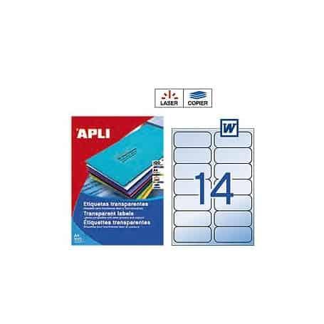 Etiquetas Apli 10969 Translúcidas 99,1 x 38,1 mm