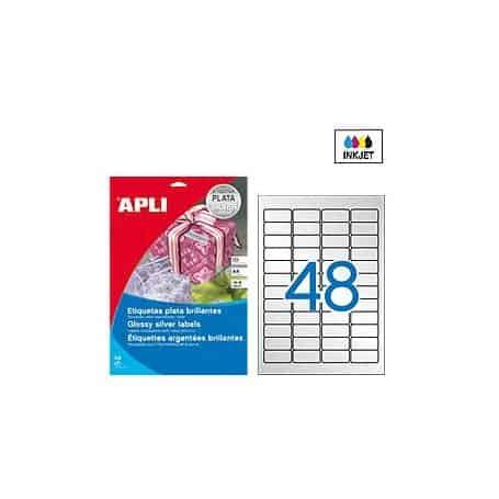 Etiquetas Apli 11348 Metalizadas 45,7 x 21,2 mm