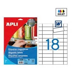 Etiquetas Apli 10388 Magnéticas 80 x 28 mm