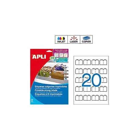 Etiquetas colgantes imprimibles Apli 11945 Medidas 22 x 35 mm