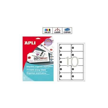 Etiquetas colgantes imprimibles Apli 10149 Medidas 98 x 57 mm