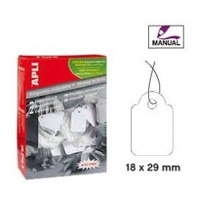 Etiquetas colgantes manuales Apli 389 Medidas 18 x 29 mm