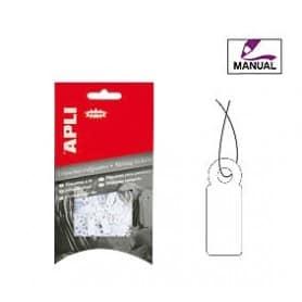 Etiquetas colgantes manuales Apli Medidas 7 x 19 mm