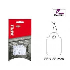 Etiquetas colgantes manuales Apli 7013 Medidas 36 x 53 mm