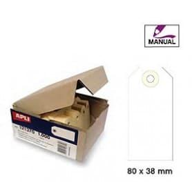 Etiquetas colgantes manuales Apli 121372 Medidas 80 x 38 mm