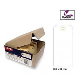 Etiquetas colgantes manuales Apli 121375 Medidas 120 x 57 mm