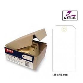 Etiquetas colgantes manuales Apli 121376 Medidas 125 x 63 mm